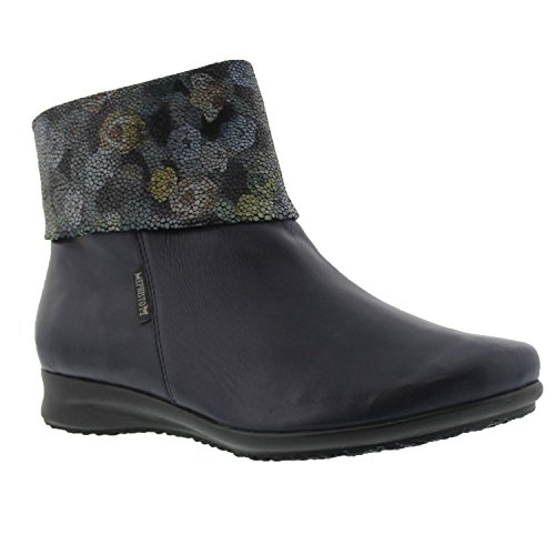Womens Boots Navy Fiducia Leather Mephisto xTZYq
