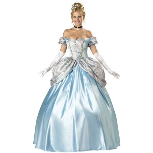 InCharacter Costumes, LLC Women's Enchanting Princess Costume, Blue, Large]()