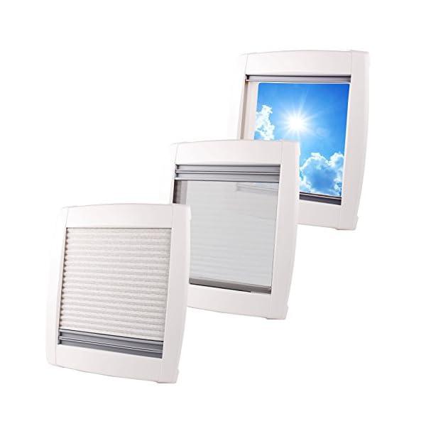 41kdhcwqR7L MPK Dachfenster Vision Star M pro klar 40x40 cm Dachstärke 25-60 mm 48P + Deklain Dichtmittel