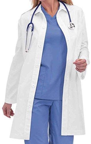 (Orange Standard Unisex Doheny 36&Frac38; Lab Coat Small White)