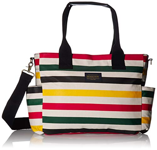 Pendleton Men's Canopy Canvas Super Tote Bag, glacier stripe, ONE SIZE