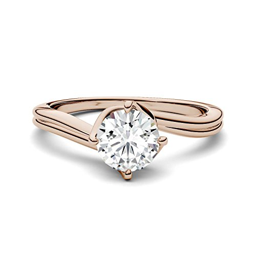 Forever One Round 6.5mm Moissanite Solitaire Engagement Ring-size 6, 1.00ct DEW by Charles & Colvard