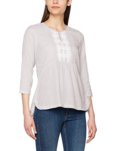 VERO MODA Vmabby 3/4 Top Dnm, Blouse Femme, Blanc (Snow White), 40 (Taille Fabricant: Large)