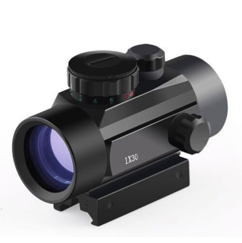 Twod Red Green Dot Sight 1x30mm Rifle scope with 20mm Picatinny Weaver Mount Illuminated Reticle For Hunting