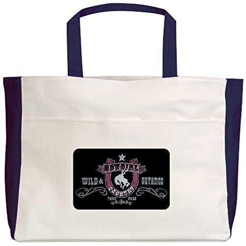 Sexy Country Costumes Cowgirl (Royal Lion Beach Tote (2-Sided) Cowgirl Country Wild and Untamed -)