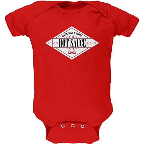 (Halloween Hot Sauce Costume Red Soft Baby One Piece - 18-24)