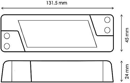 blanc TRIAC Adaptateur pour variateur dintensit/é variable avec transformateur LED 6-50 W 300-1400 mA