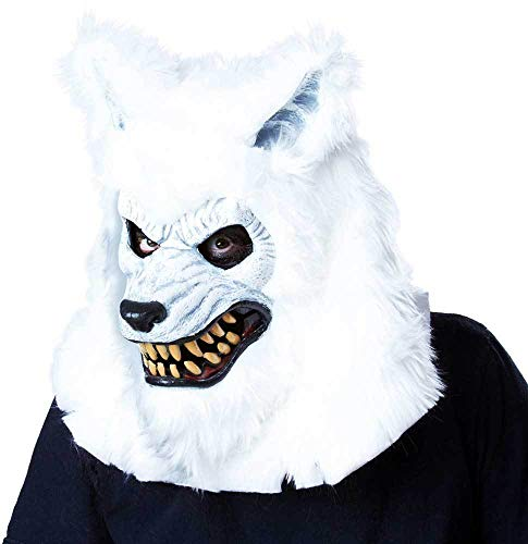 ESSA OAT clothes series White Lycan ANI-Motion Werewolf Face Mask Halloween Costume Accessory Adult -