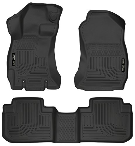 (Husky Liners 99881 Black Weatherbeater Front & 2nd Seat Floor Liners Fits 2014-2018 Subaru Forester)