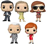 Funko Pop! TV: Mad Men - Don Draper, Betty Draper, Peggy Olson, Roger Sterling and Joan Holloway - Set of 5 Vinyl Figures