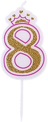 Fewxdsad - Velas de cumpleaños con Corona Rosa Brillante ...