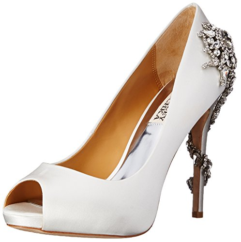 Badgley Mischka Women's Royal Dress Pump, White, 8.5 M US by Badgley Mischka