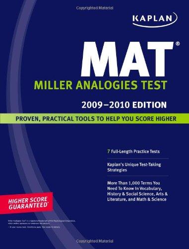 Pdf Test Preparation Kaplan MAT, 2009-2010 Edition