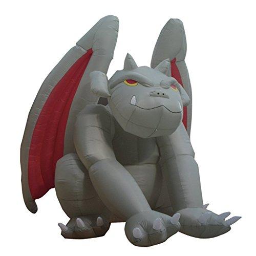 Sayok 8 Foot Huge Halloween Inflatable Gargoyle Monster Halloween Decorations with Led Light for Home Yard]()
