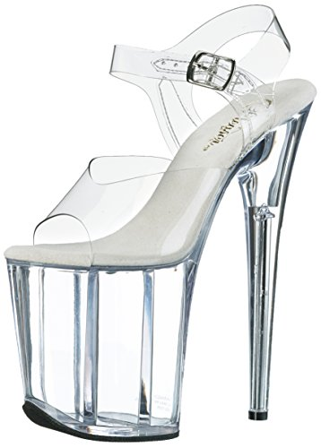 Donna Sandali Pleaser C Flam808 Transparent M Clear qxqITwOz