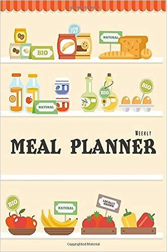 weekly meal planner track plan your meals weekly 52 weeks food