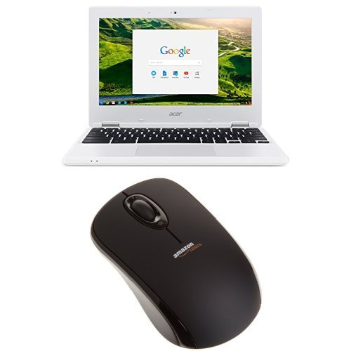 Acer Chromebook CB3-131-C3SZ 11.6-Inch Laptop with Windows 10 and AmazonBasics Wireless Mouse Set