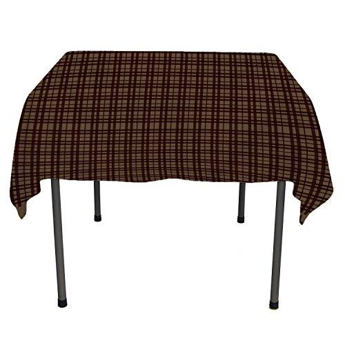 Cross Stripe Star Lattice Polyester Tablecloth Reusable Tablecloth Rectangle Tablecloth 60 by 120 inch ()
