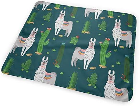 Llama And Cactus 小さいながらも軽くて柔らかく快適な折り畳みが簡単なハイエンドのファッションシンプルなポップ絶妙なおむつパッド