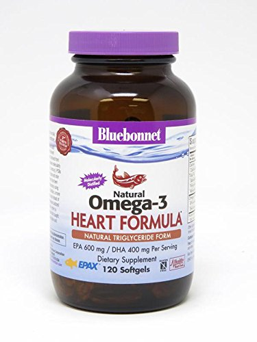 BlueBonnet Natural Omega-3 Heart Formula Softgels, 120 Count