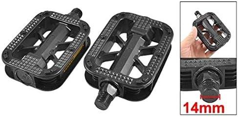 ZXYAN Pedales de Plataforma de plástico Negro de Rosca 2pcs 14mm ...