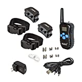 ALEKO TS-BC982D Remote Pet Training Collar for 2 Dogs Water Resistant Dog Training Device