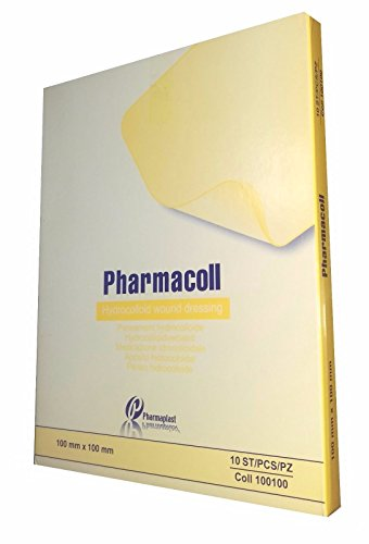 Pharmacoll 4''x4'' (10 Pads) - Hydrocolloid Dressing - Comparable to *Duoderm *Primacol *Restore *Replicare *Tegasorb by Pharmaplast