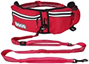 DOCO Hands Free Dog Leash for Running Walking Jogging, Training, Hiking, Retractable Bungee Dog Waist Leash fo