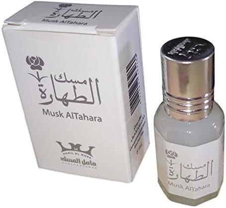 Women Musk Al tahara Pure Saudi Altahara Body White 5 ml Alcohol Free (4 Bottle = 20 ml)