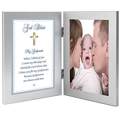 Godparents Gift - Picture Frames from Godson with Sweet Poem - Add Photo