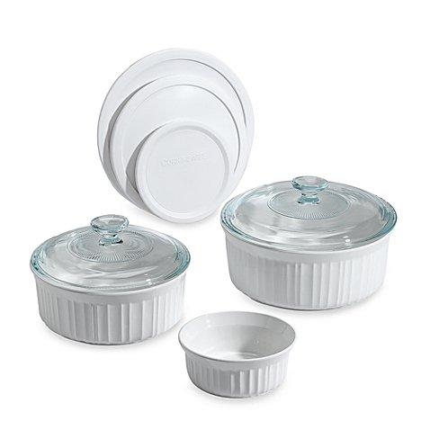 Corningware® French White® 8-piece Bakeware Set