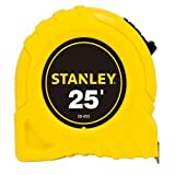 Stanley Bostitch : Power Return Tape Measure, 3-Way Reading Blade, 1''W x 25 ft., Yellow -:- Sold as 2 Packs of - 1 - / - Total of 2 Each