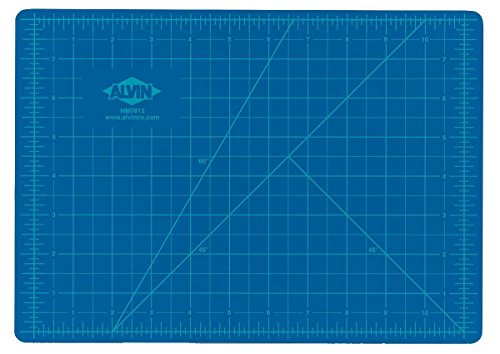 Gridded Rotary Mat (Alvin HM0812 Blue/Gray Self-Healing Hobby Mat, 8 1/2 X 12)
