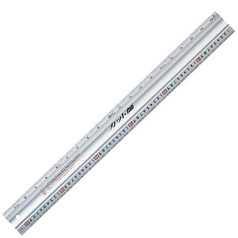 シンワ測定 アルミカッター定規 ステン鋼付き カット師 600mm併用目盛 W左基点