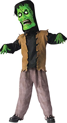 Bobble Head Monster Costumes - Kids-Costume Bobble Head Monster Green Lg Halloween Costume - Child Large