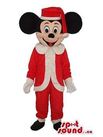 Amazon サンタクロースの服を着てミッキーマウスディズニー