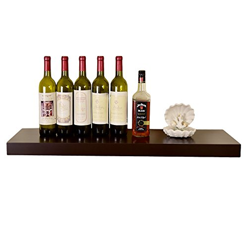 WELLAND 36 Inch Chicago Floating Wall Shelves, Espresso by WELLAND