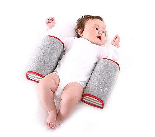 Newborn Baby Sleep Pillow - Crib Bumper Nursing Pillow Anti-Rollover Memory Foam Cute Cartoon Anti-Roll Sleeper Pillow Sleep Positioner Insurance (Infant Body Pillow Support)