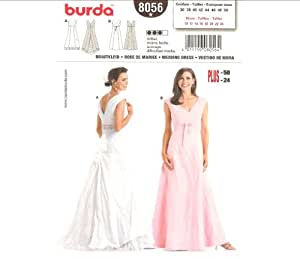 Burda 8056 pattern womens misses 39 fitted for Wedding dress patterns plus size
