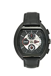 D&G Dolce & Gabbana Men's DW0214 High Security Black Leather Black Chronograph Dial Watch