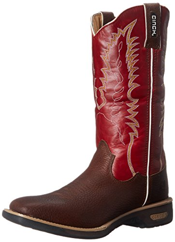 Cinch WRX Women's Commander, Red 10 B US (Cinch Cowboy Boots Womens)