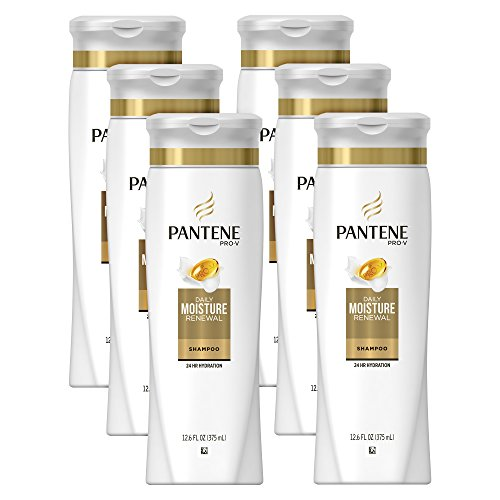 Pantene Pro-V Daily Moisture Renewal Hydrating Shampoo, 12.6 fl oz (Pack of 6) (Packaging May Vary)