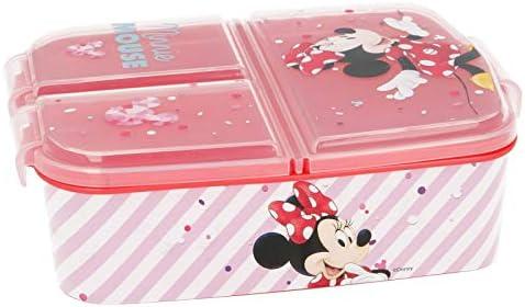 Stor Minnie Mouse (Disney) | Sandwichera con 3 Compartimentos para niños - lonchera Infantil - Porta merienda - Fiambrera Decorada