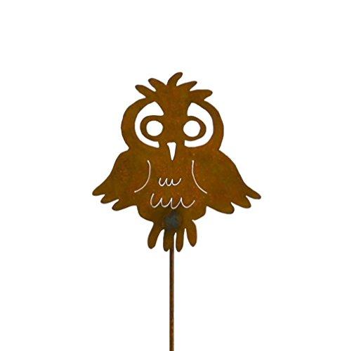 Cute Owl Rusty Metal Garden Stake