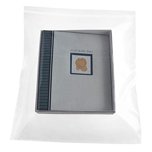 Clear Zipper Bag, Large Reclosable Poly Bags, 18 x 24 Inch, 4 Mil, 300 Pack ()