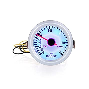 KKmoon Turbo Boost Vacuum Press Gauge Meter for Auto Car 2 52 mm de 1~2BAR Blue LED Light: Amazon.es: Electrónica