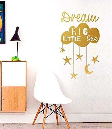 Dream Big Little Boy Citation Plaque Murale Suspendu Pépinière Chambre SIGNE Garçons Cadeau