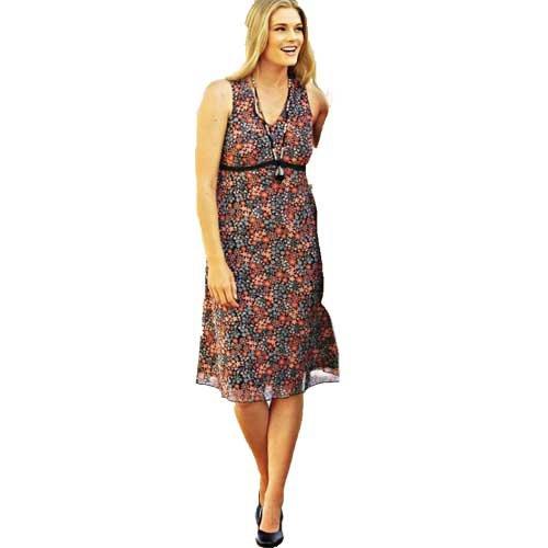adonia mode Duftiges Sommerkleid Mesh Gr. 46 - 56