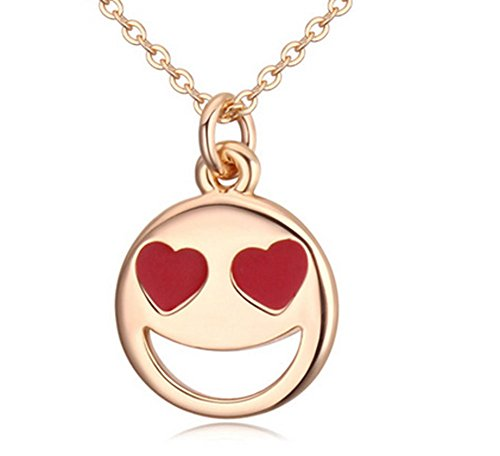 Lovely Land Emoji Pasta Lovely Face Pendant Necklace (Heart(yellow))