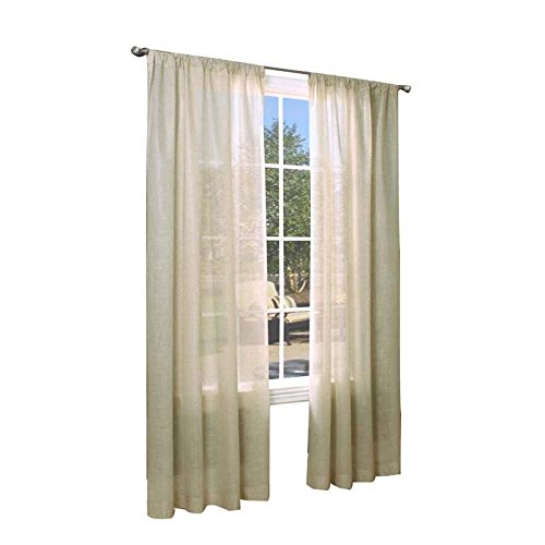 Commonwealth Home Fashions Thermalogic Weathervane Insulated Sheer 50 x 72 Per Panel, Linen
